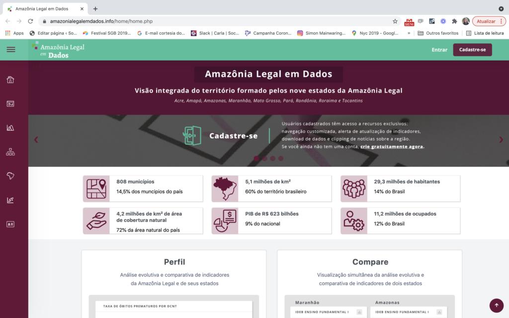Site Amazônia Legal em Dados