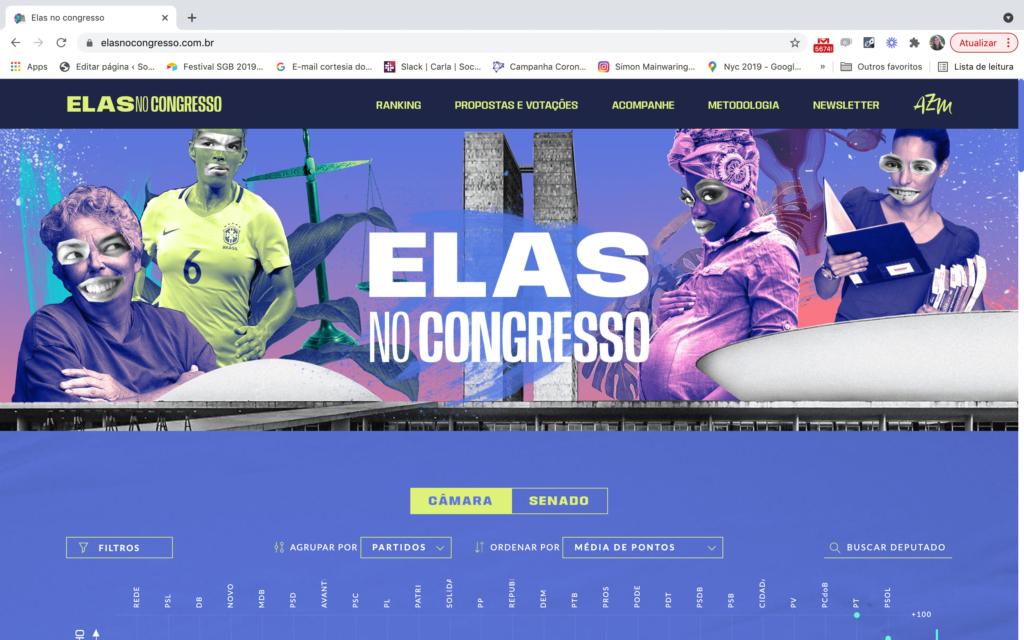 Site Elas no Congresso
